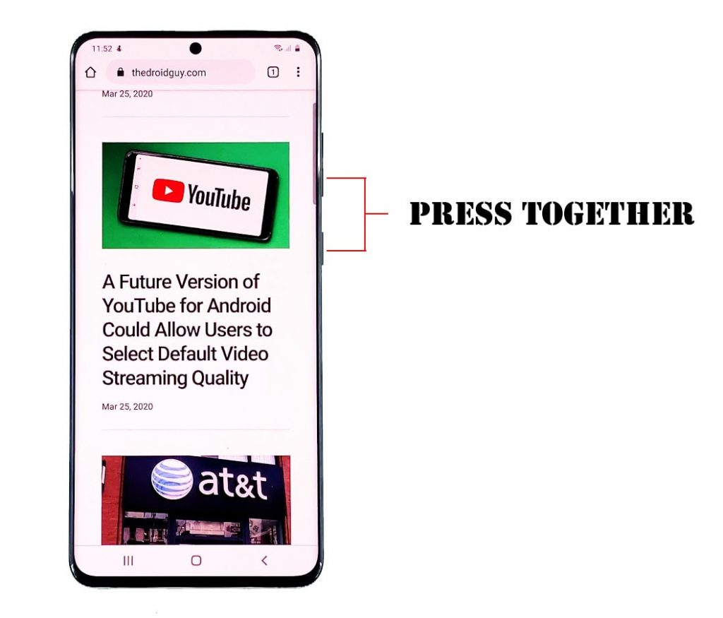 Cara Mengambil Screenshot Di Samsung Galaxy S20