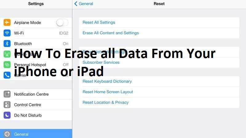 How To Erase all Data From Your iPhone or iPad