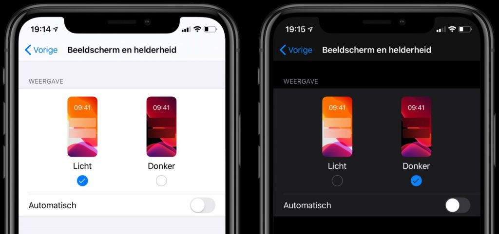 Enable dark mode on iPhone and iPad