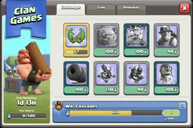 5. Have a victorious clan in Clan Games