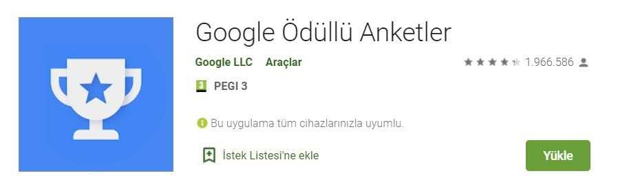 1. Use Google Awarded Surveys