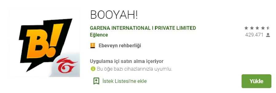 2. BOOYAH! Broadcasting on the Application