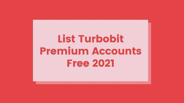 Turbobit Premium Accounts Free