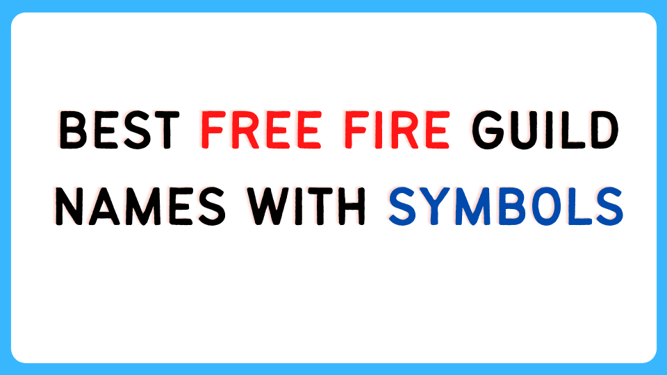 Best Free Fire Guild Names with symbols